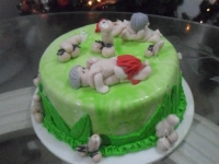 Tortas en Pastillaje Barranquilla 4083
