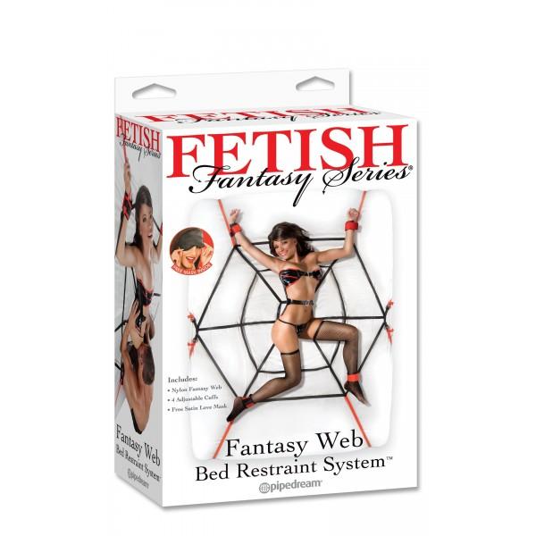 Fetish Fantasy Web Bed Restraint System
