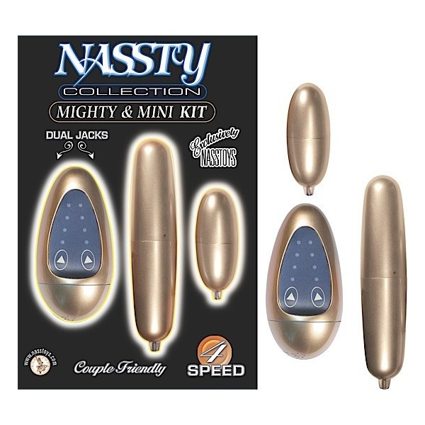 Huevo Nassty Collection Mighty and Mini Kit Gold