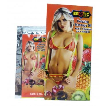 Sobre Aceite Erotic sabor Kiwi