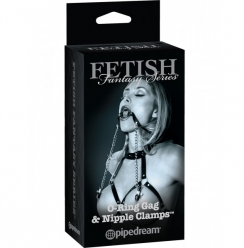 Fetish Fantasy 50 Sombras O-Ring Gag and Nipple Clamps
