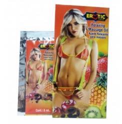 Sobre Aceite Erotic Sabor Fresa